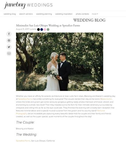 Spreafico Farms Junebug Weddings
