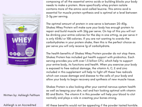 Why the shakez whey protein should be your number 1 choice.