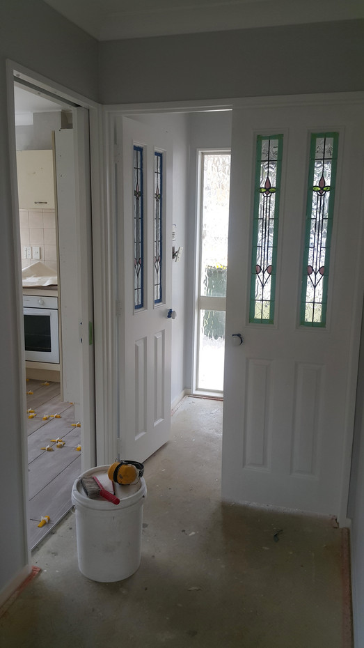 Front door and Kitchen