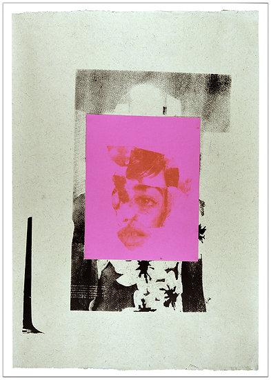 Portrait on pink