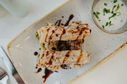 Chicken Mousakhan Rolls