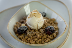 Apple, Blackberry and Walnut Crumble