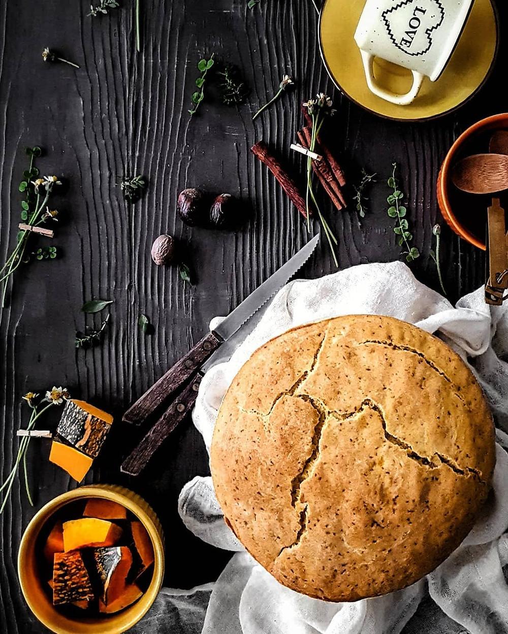 Trini Style Gluten Free and Vegan Pumpkin Bake
