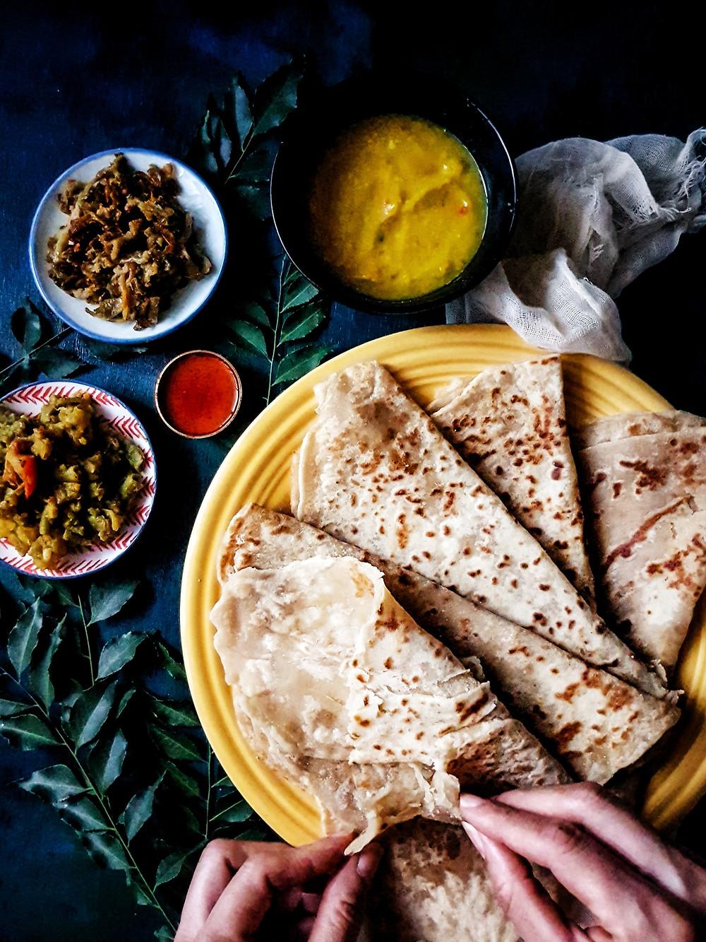 Trini Version Gluten Free, Vegan Dosti Roti