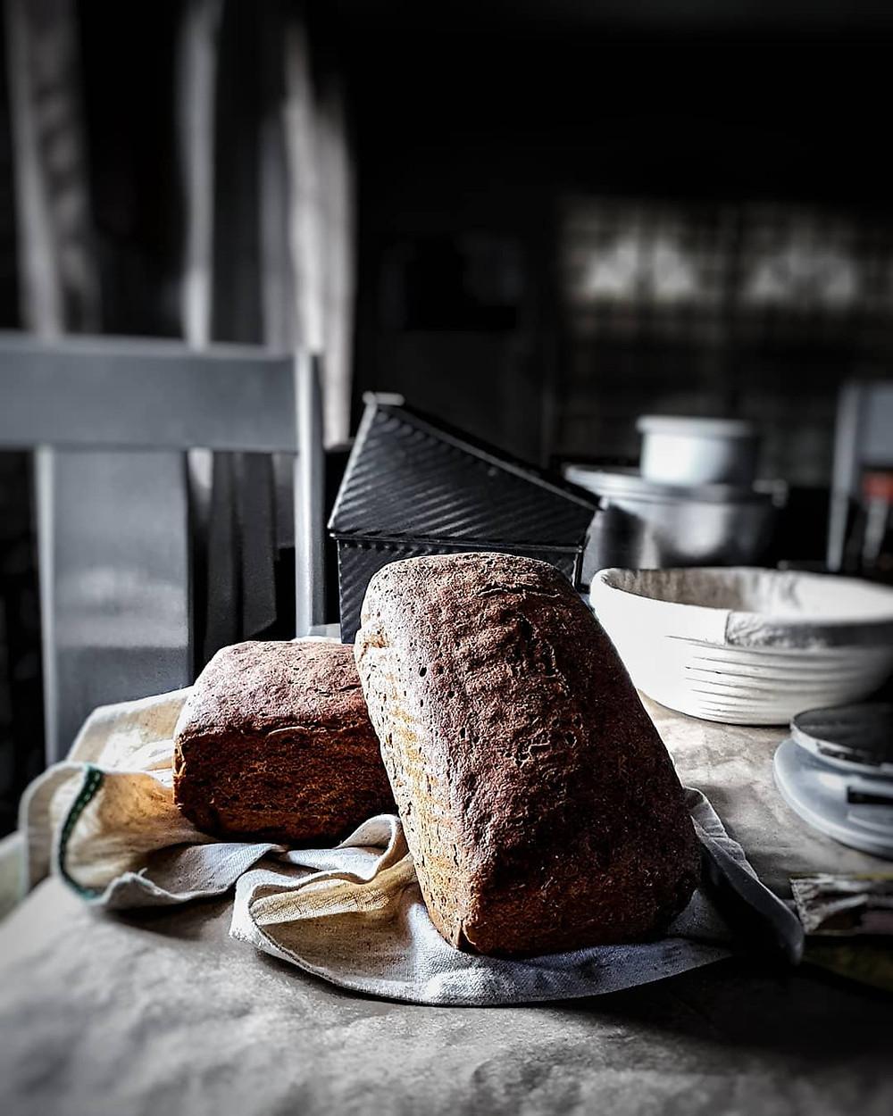 Bread made with buckwheat flour