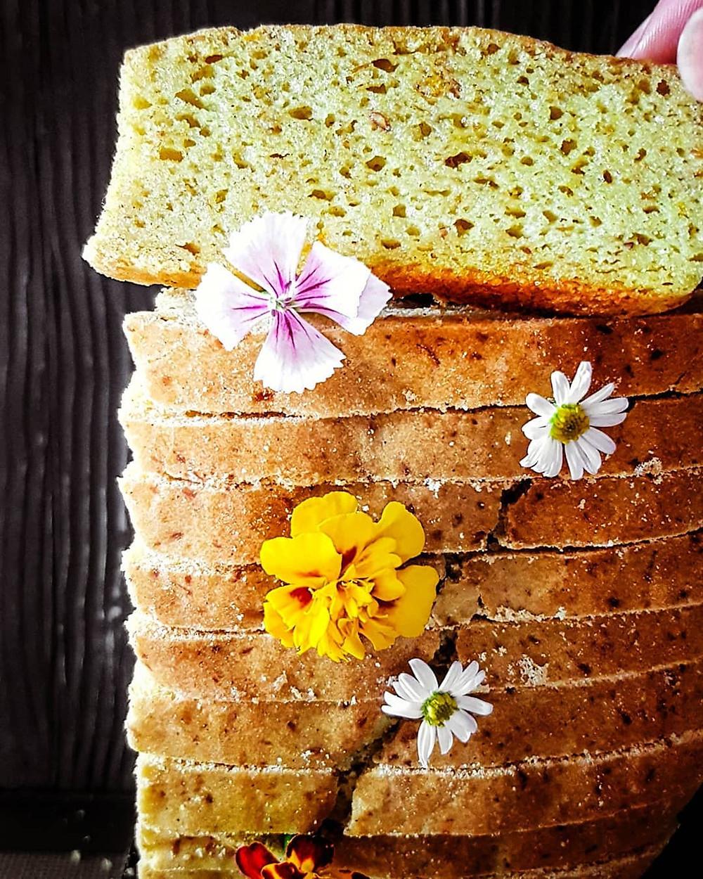 Gluten free and vegan pumpkin bake slices