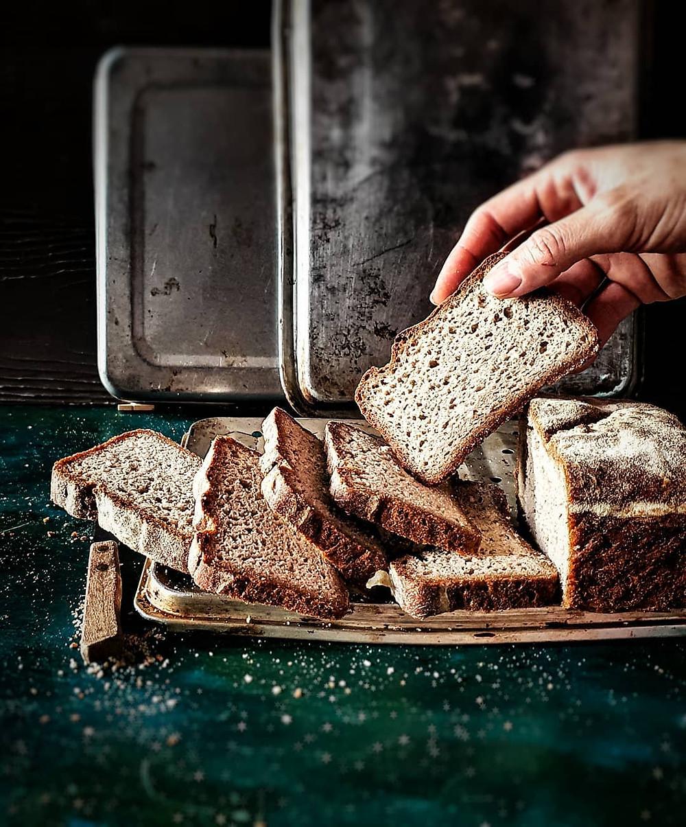Gluten Free and Vegan Bread Slices