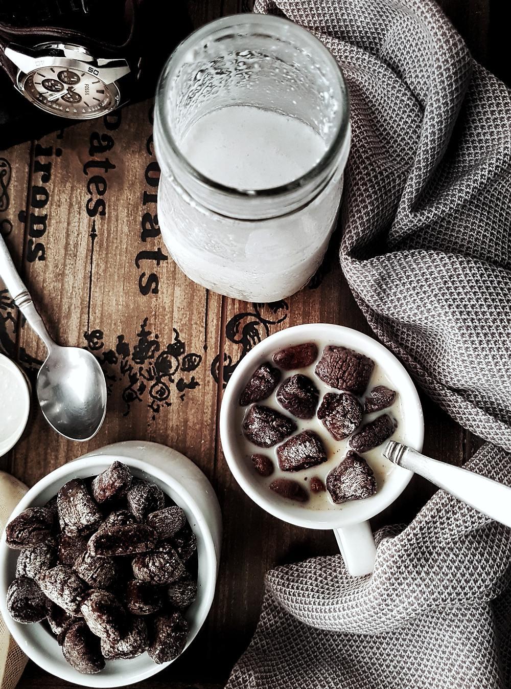 Gluten Free Vegan Homemade Cocoa Breakfast Cereal