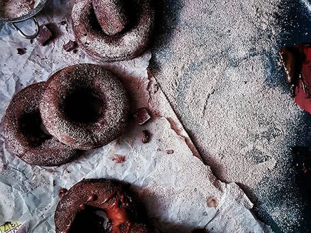 Easy Chocolate Blender Donuts (Doughnuts)