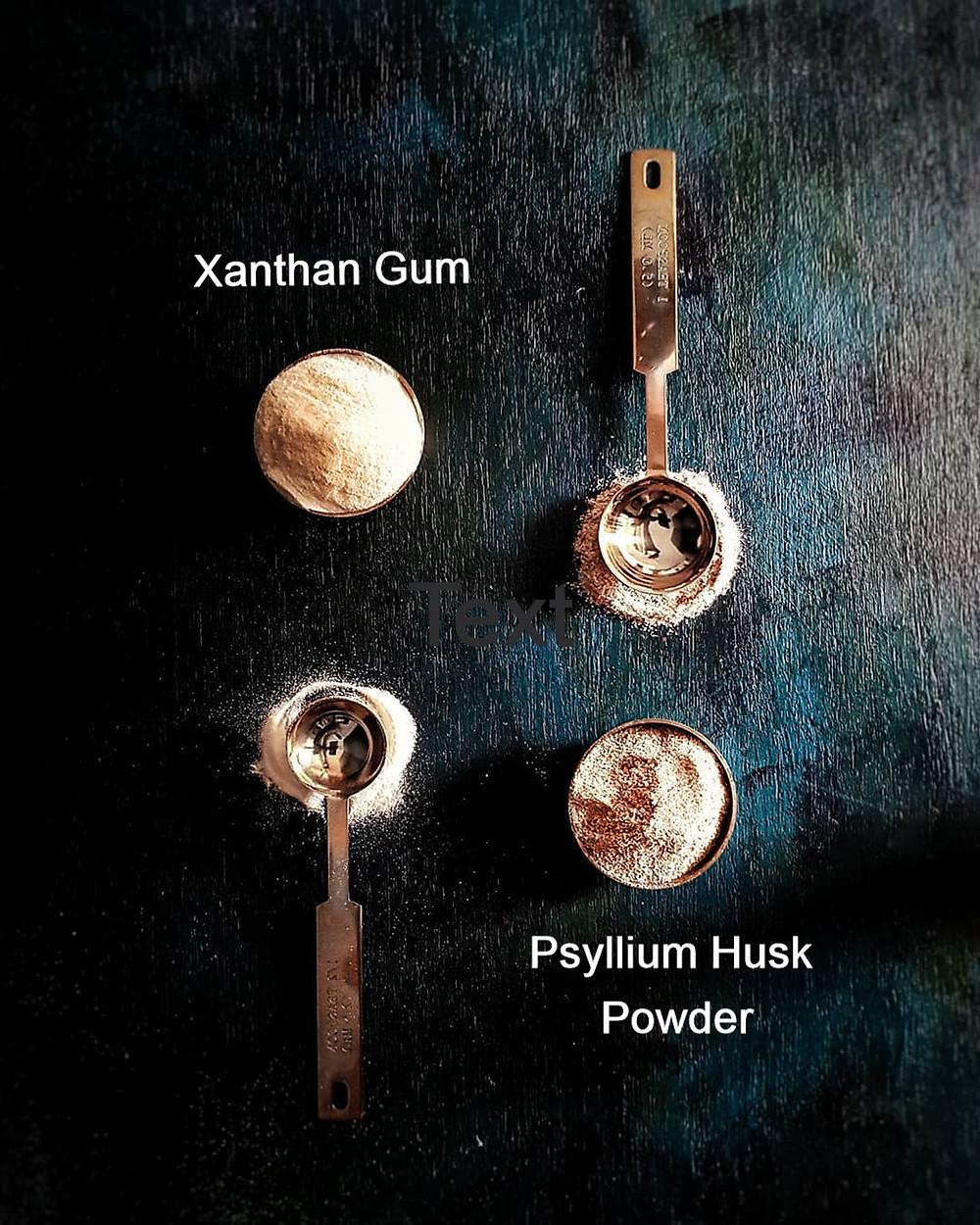 Binders used in GF Baking Psyllium Husk Powder and Xanthan Gum