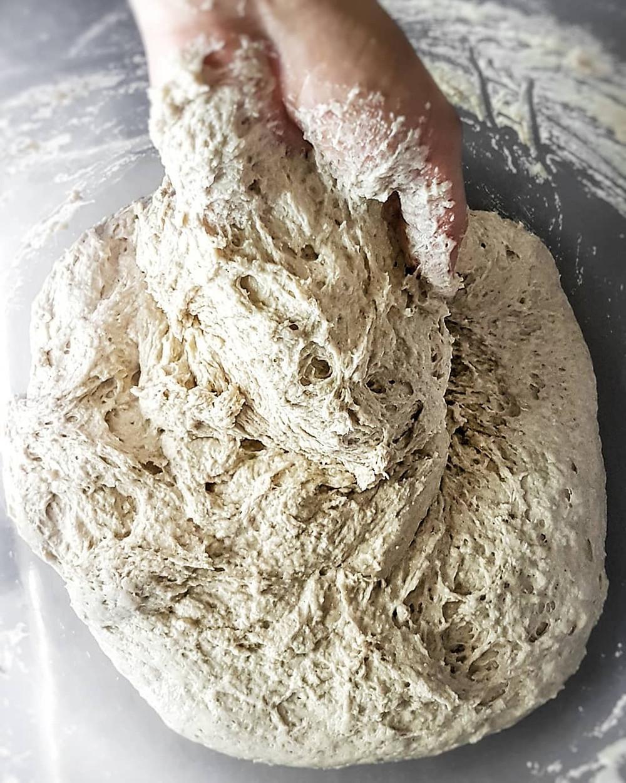 Kneading Gluten Free Bread Dough by hand