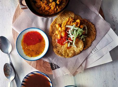 Healthier Trini Style Gluten Free Doubles