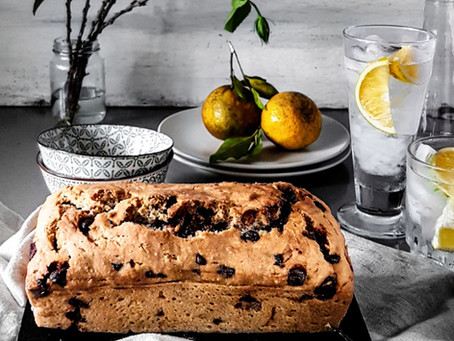 Gluten Free and Vegan Lemon Chocolate Chip Bread