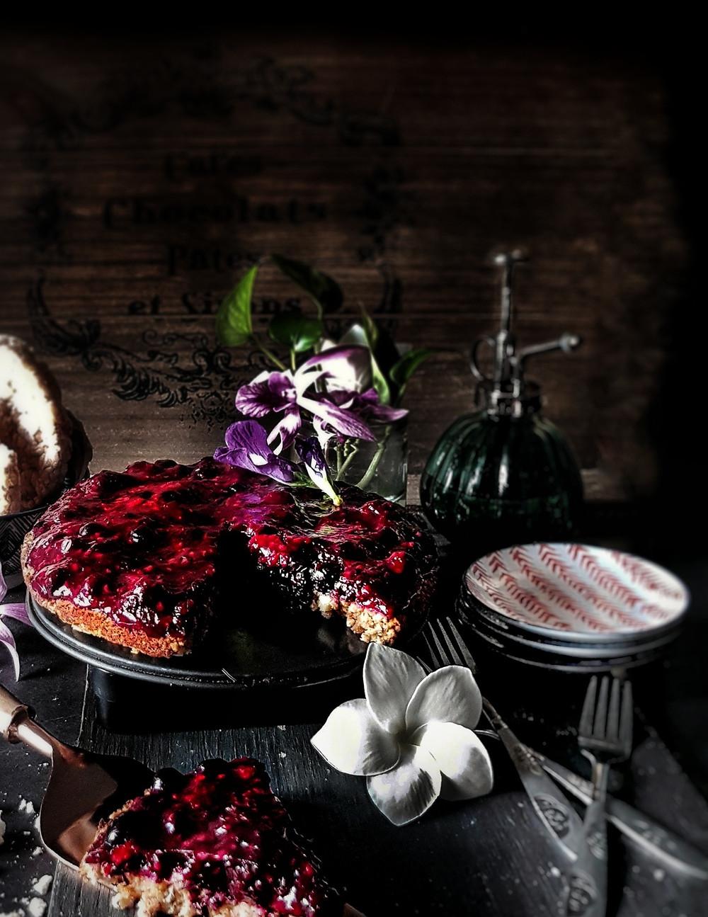 Gluten Free, Vegan Berry Tart