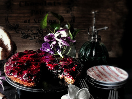 Very Berry Tart on a Rice Cake Base