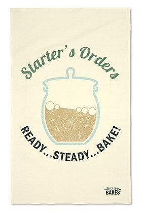'Starter's Orders...' Tea Towel