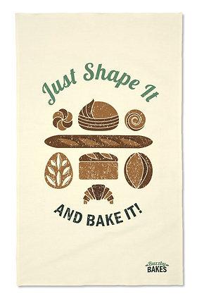 'Just Shape It...' Tea Towel