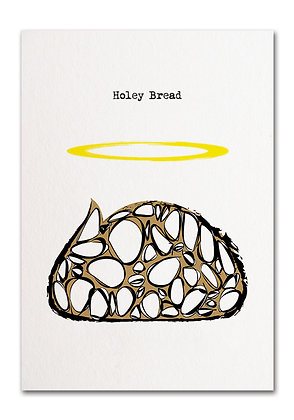 'Holey Bread' Greeting Card