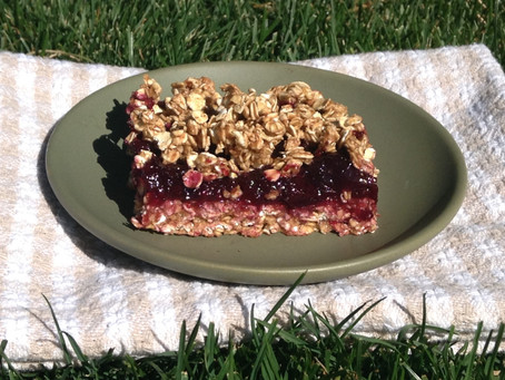 Cherry Pie Oat Squares