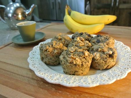 Oh-Mega Vegan Banana Muffins