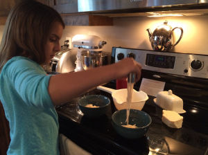 My Daughter Cooking Speghetti