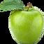 Transparent Green apple