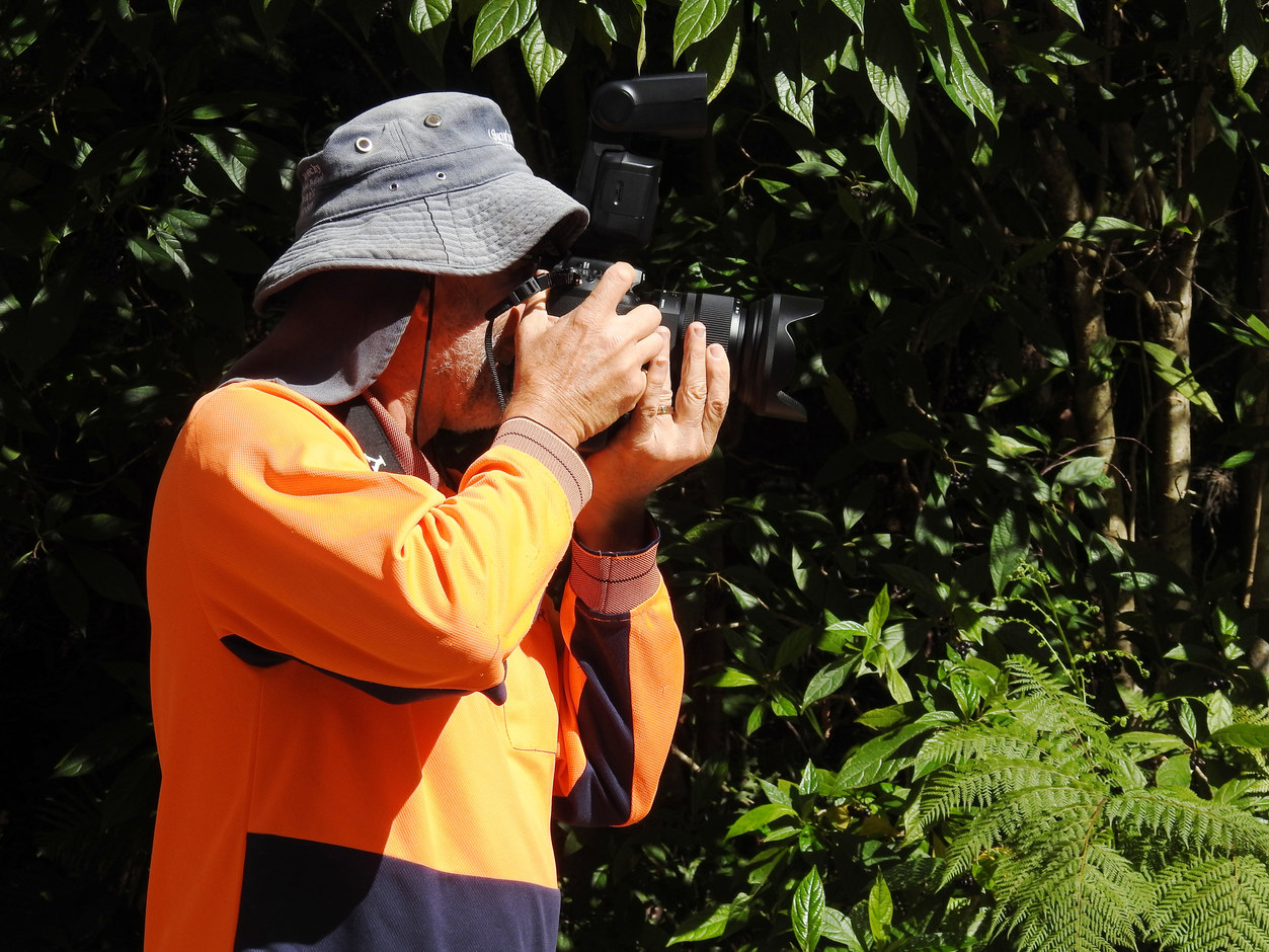 Greg, our photographer, at work (April 2019)