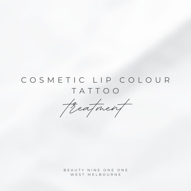 Cosmetic Lip Colour Tattoo