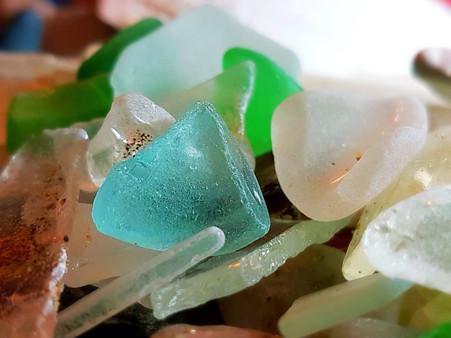 beautiful beach glass