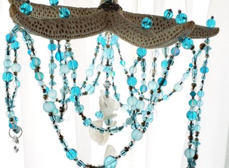 this glass beaded starfish suncatcher will definitely add glitter and shine to any room decor!