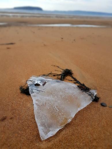 Beach glass? or ice ...