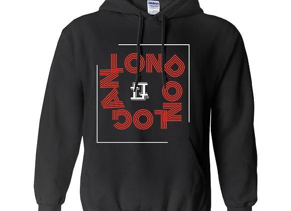 Abstract Blk/Red Hoodie