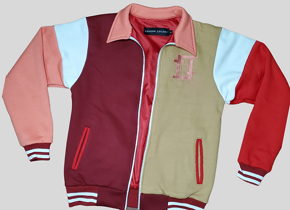 Red Merlot Varsity Jacket