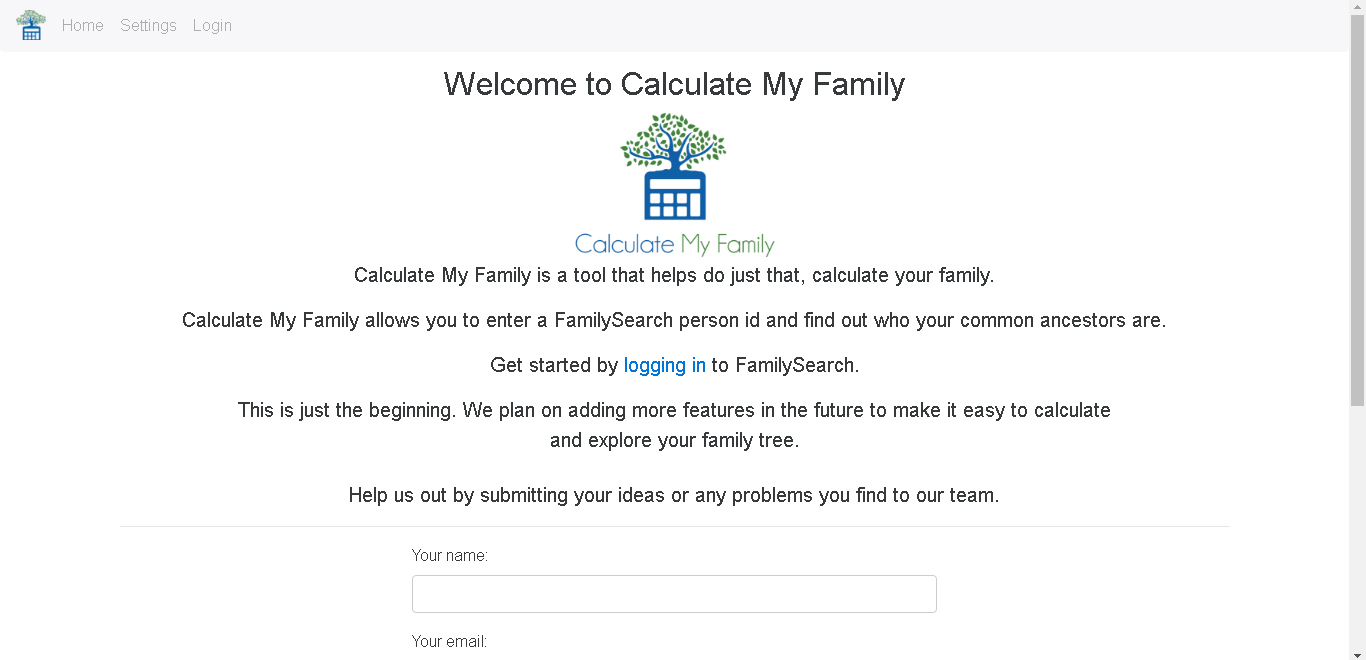 Calculate My Family