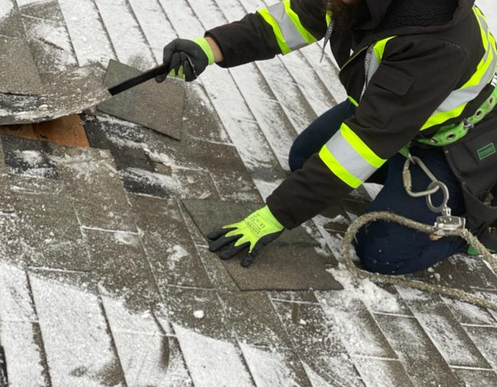 Winter, Roof Repairs