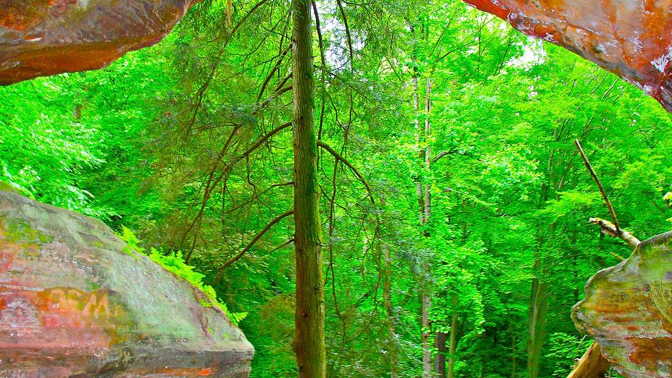 Inside Of Gorge Rocks - Hocking Hills, Ohio