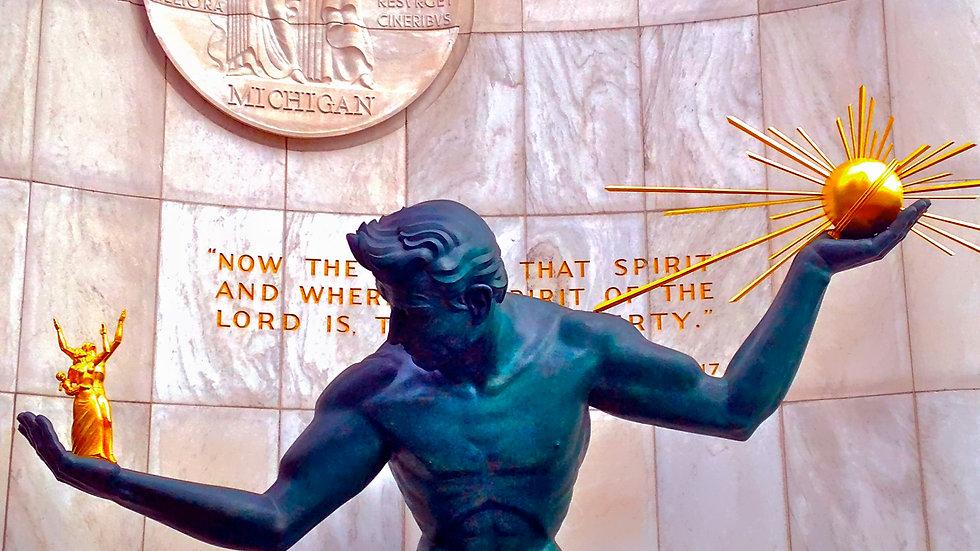 Spirit of Detroit's Colors