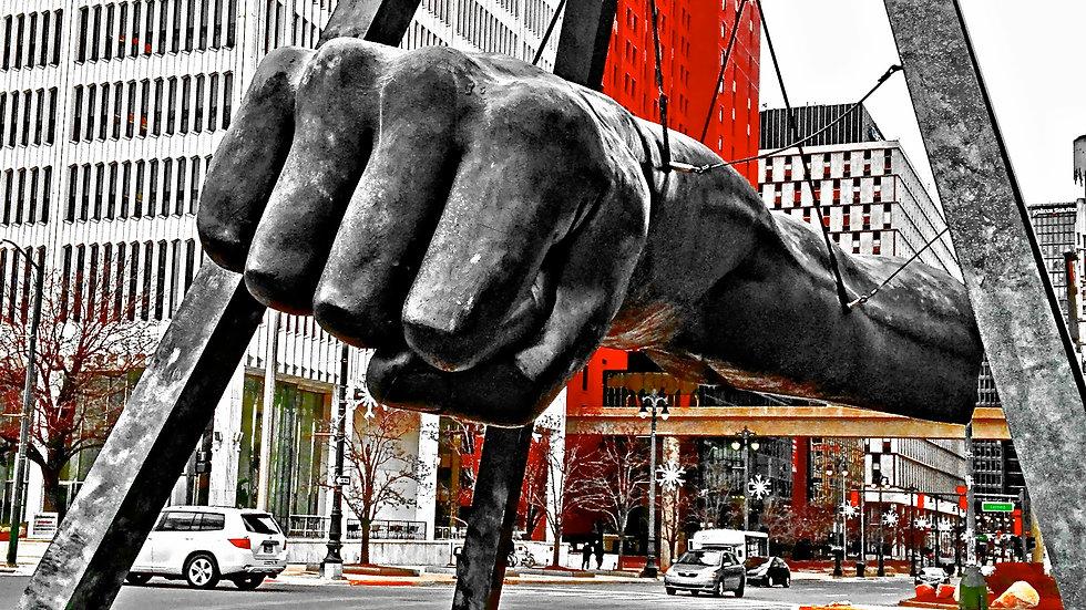 (Full View Red) Joe Louis Fist