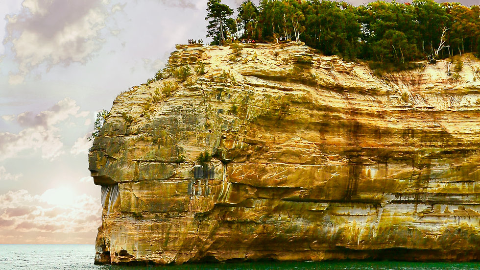 'Indian Head' Rocks