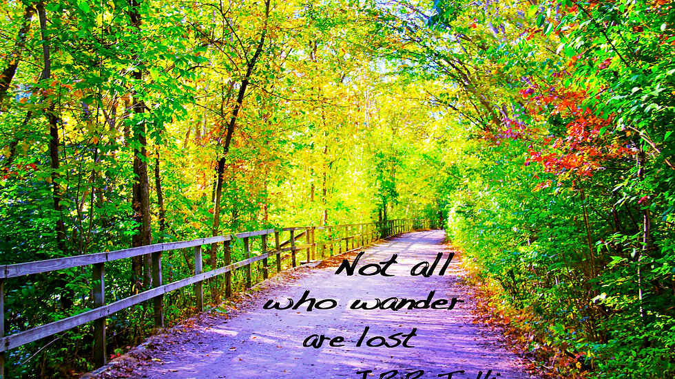 'Not All Who Wander Are Lost'