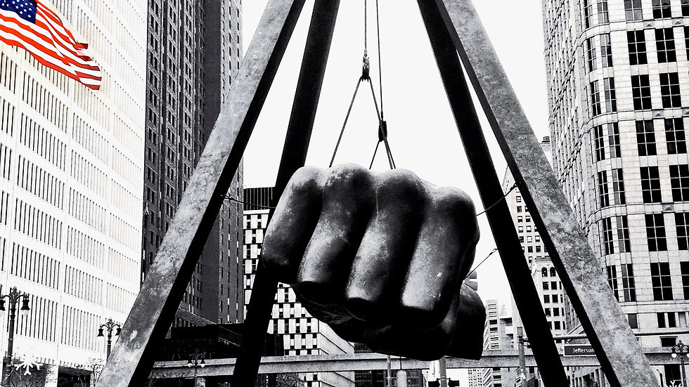 Joe Louis Fist (with spot colored flag)