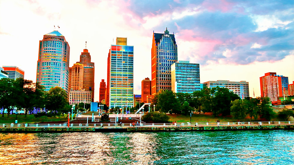 Colorful Detroit Off The River