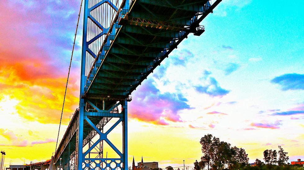 Under The Bridge; beautiful sky