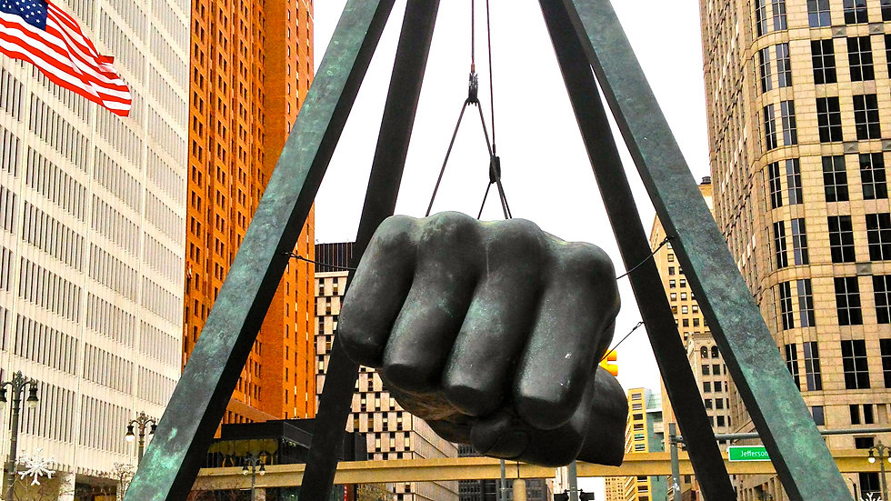 Joe Louis Fist (with Flag)