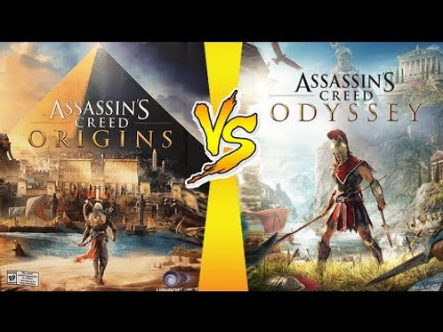 assassins creed odyssey + origins + unity