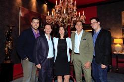 Marcelo Borges, Thierry Baccarat, Michelle Baccarat, Jaime Jimenez e Arthur Atha