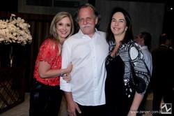 Mara Linhares, Claudio Edinger e Betina Samaia
