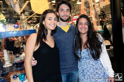 Giulia Poveda, Guilherme Nucci e Priscila Ramos