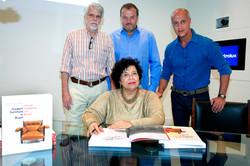 Walton Hoffman, Alberto Vicente, Marcello Vasconcellos e Maria Cecilia Loschiavo