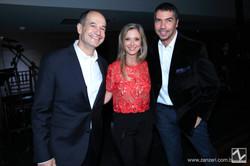Dudu Linhares e Mara Linhares com Marcelo Bacchin